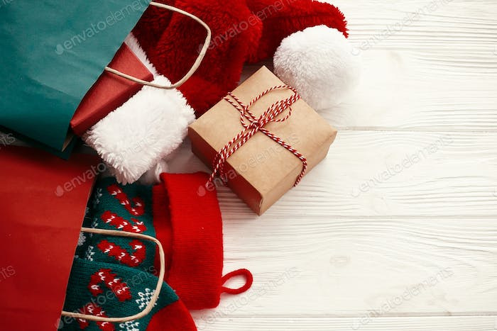 Christmas sales and shopping concept