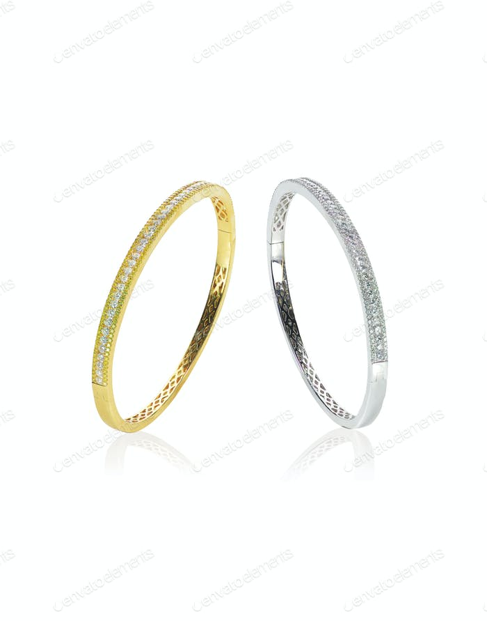 Gold SIlver Diamond Bracelets