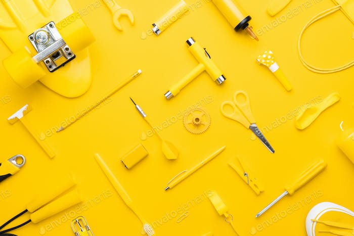 random yellow objects