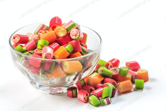 The colorful jelly candies