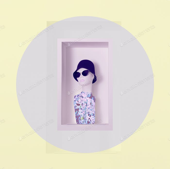 Mannequin Wearing Fashion Accessories on Shelf