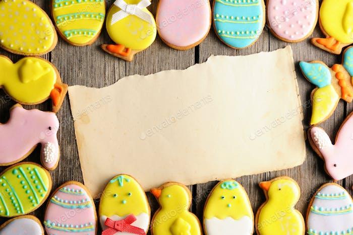 Pascua casera galletas de pan de jengibre