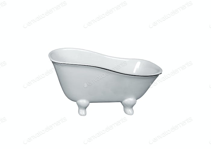 Luxury vintage bathtub isolated on white