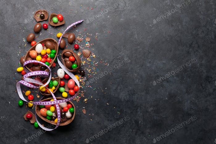 Schokolade Ostereier