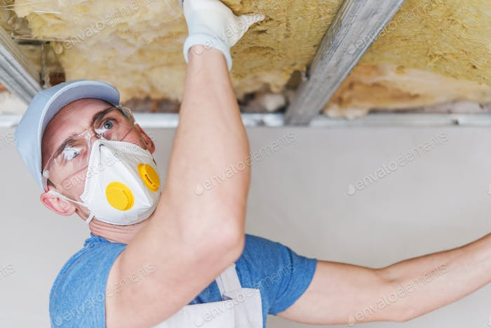 Contractor Insulating Ceiling