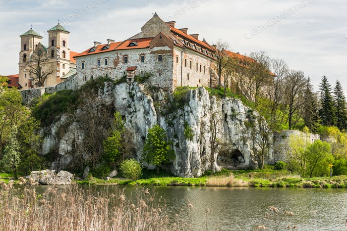 Benedictine abbey, monastery  in Tyniec near Krakow, Poland.