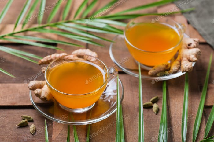 Kurkuma Ingwer Getränk, Immun-Booster, anti-entzündliche Getränke