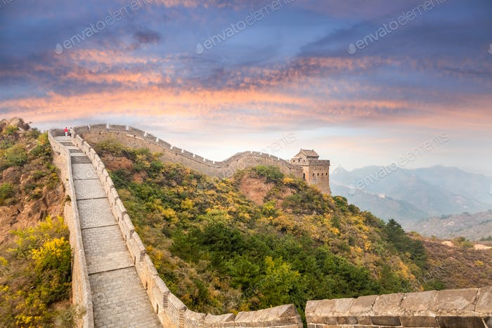 Thumbnail for the great wall in sunset