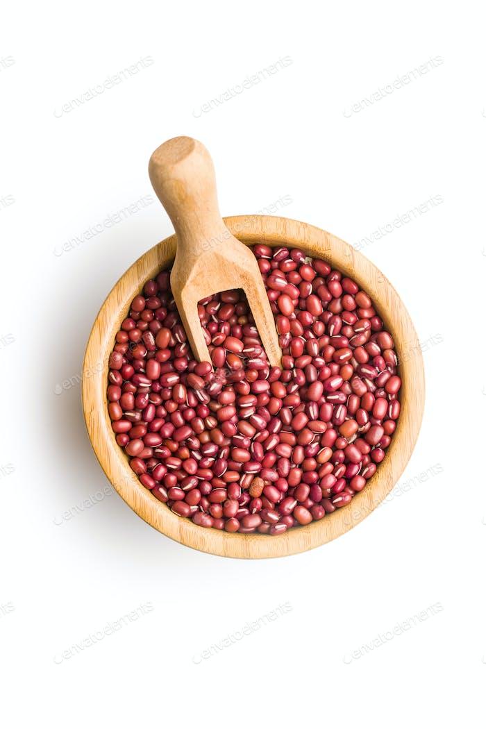 Rote Adzuki-Bohnen.