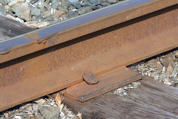 Rusty Train track macro