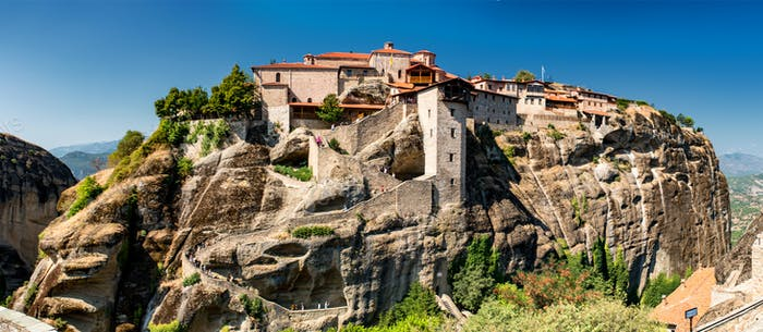 Meteora monasteries, Greece. The Monastery of Great Meteoron