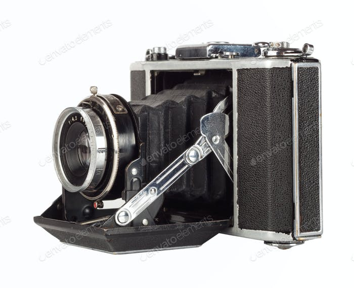 Old scratched camera