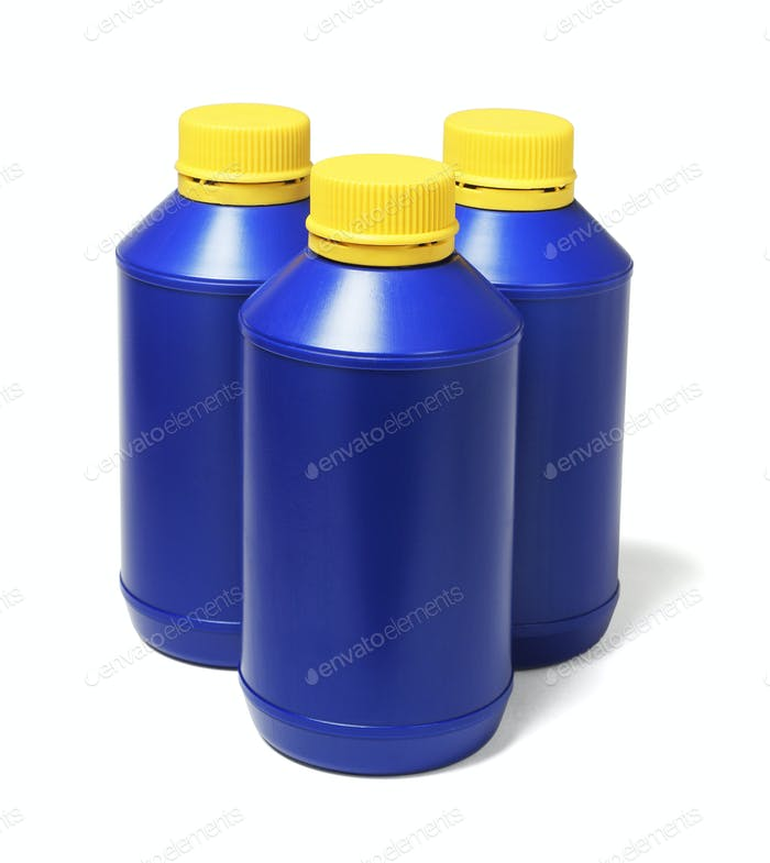 Blue Plastic Bottles