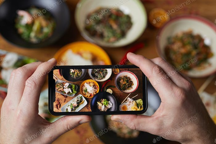 Smartphone Foto von Delicious Food