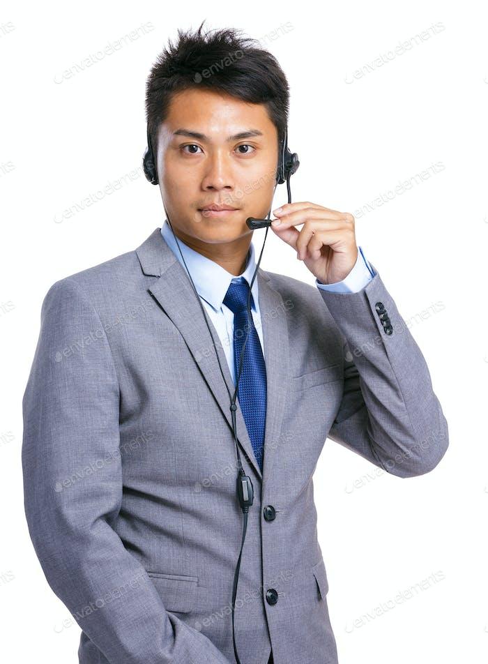 Männlicher Kundenservice