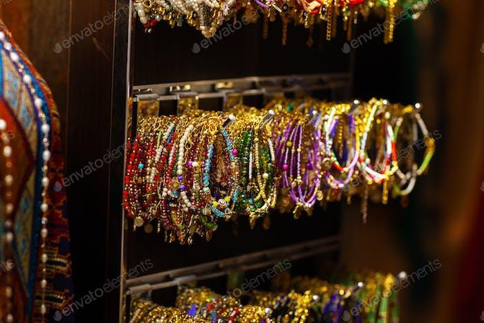 Beautiful bead bracelets on the market in Dubai