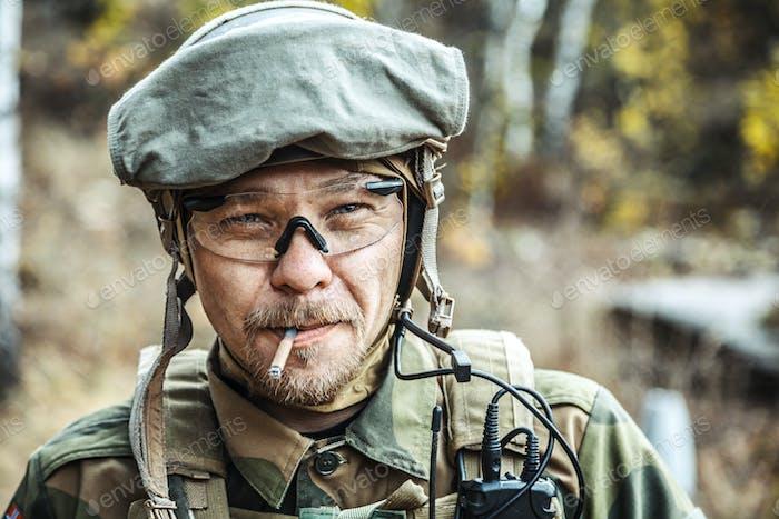 Soldat der norwegischen Streitkräfte