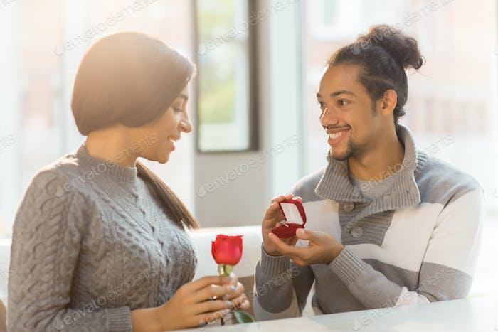 Proposal of boyfriend