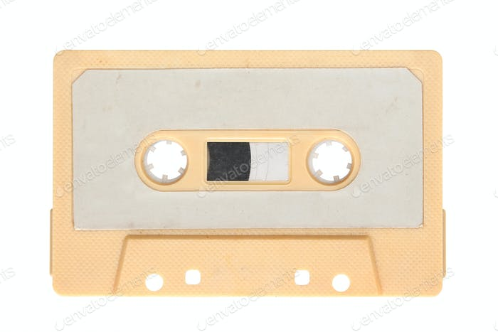 Yellow audio cassette