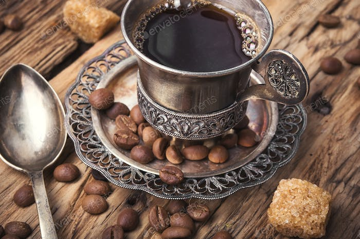 Coffee in the oriental style