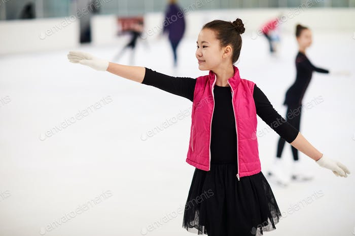 Asian Girl Figure Skating