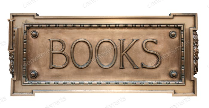 Vintage Sign For A Book Store