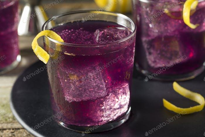 Hausgemachte Purple Haze Cocktail