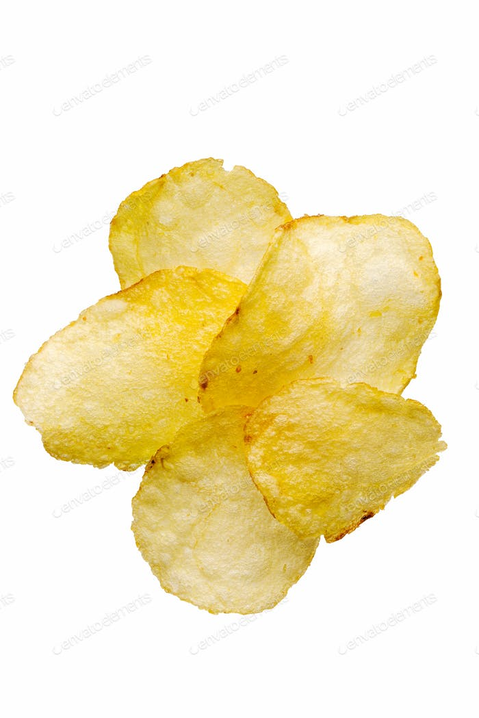 Natural fried potato chips
