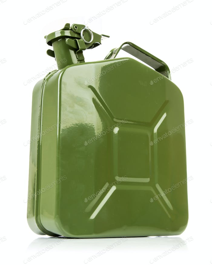 Green jerrycan