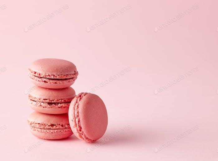 stack of pink macaroons