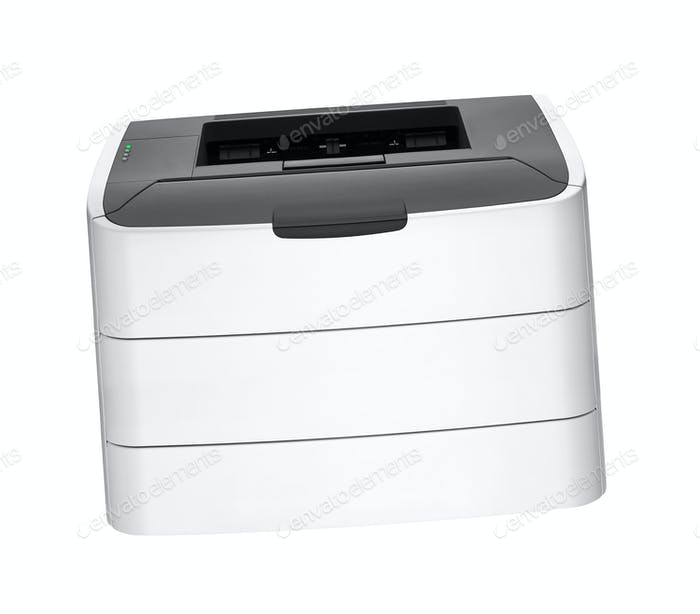 laser printer isolated