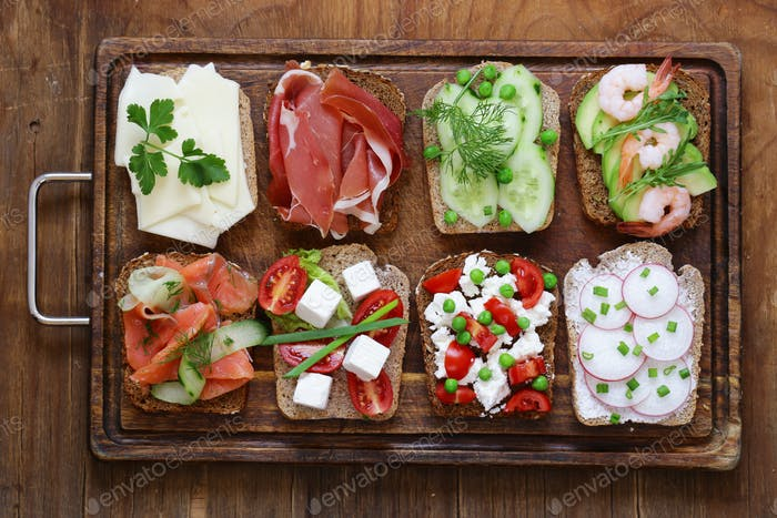 Variety of Sandwiches