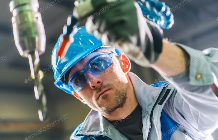 Drilling Technician at Work