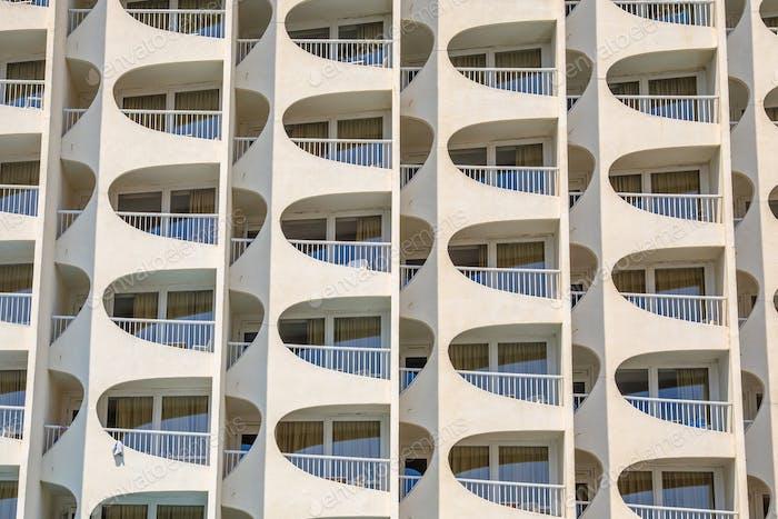 Detalle de apartamentos en el hotel