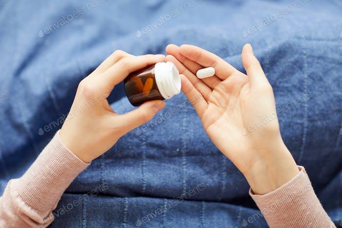 Taking pills from disease