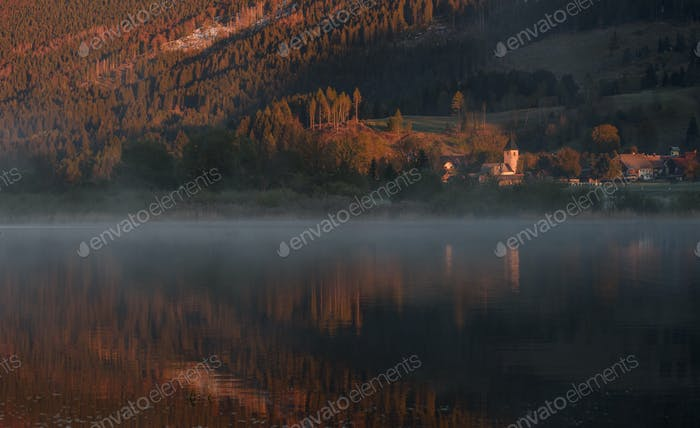 Morning reflections by the lake