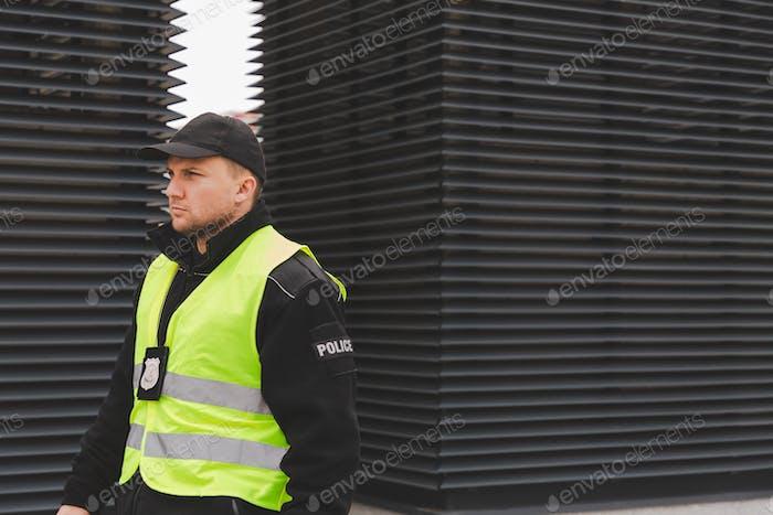 Man patrolling the neighbourhood