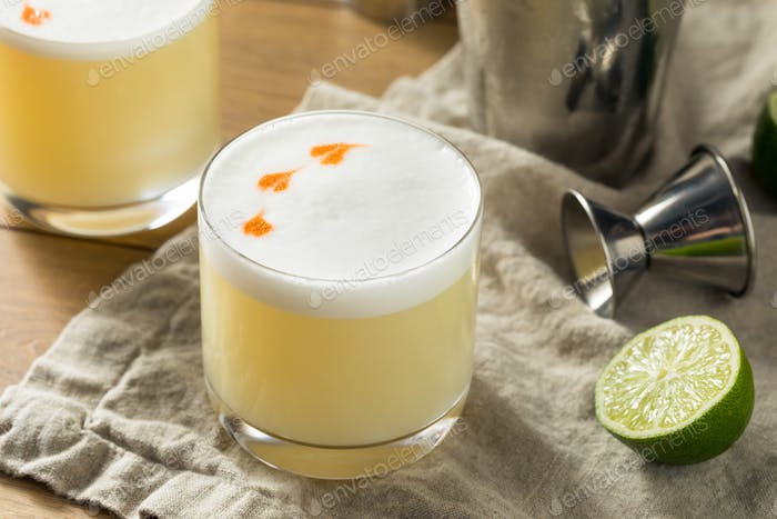 Homemade Pisco Sour Cocktail
