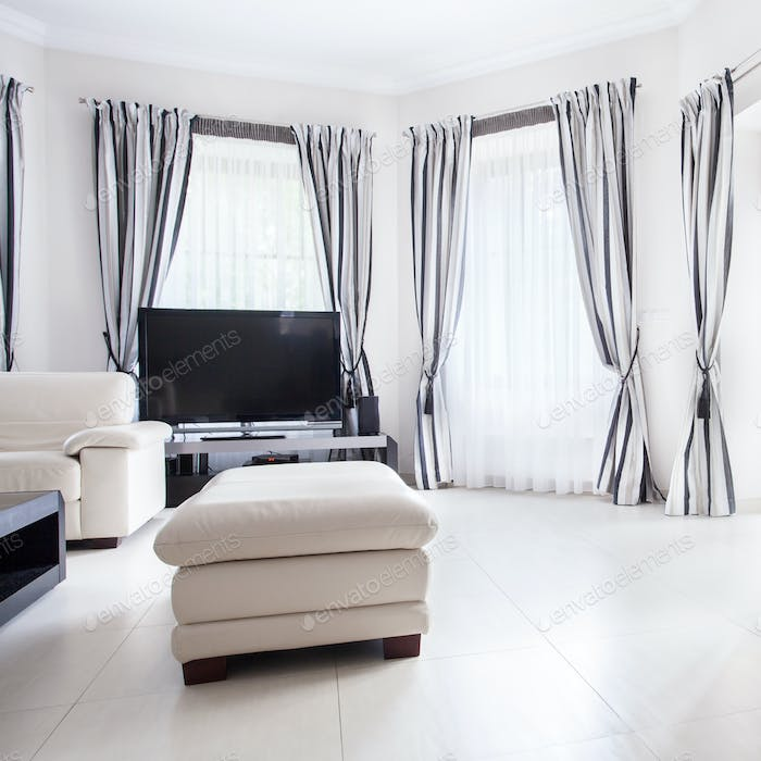 Drawing room in luxury residence