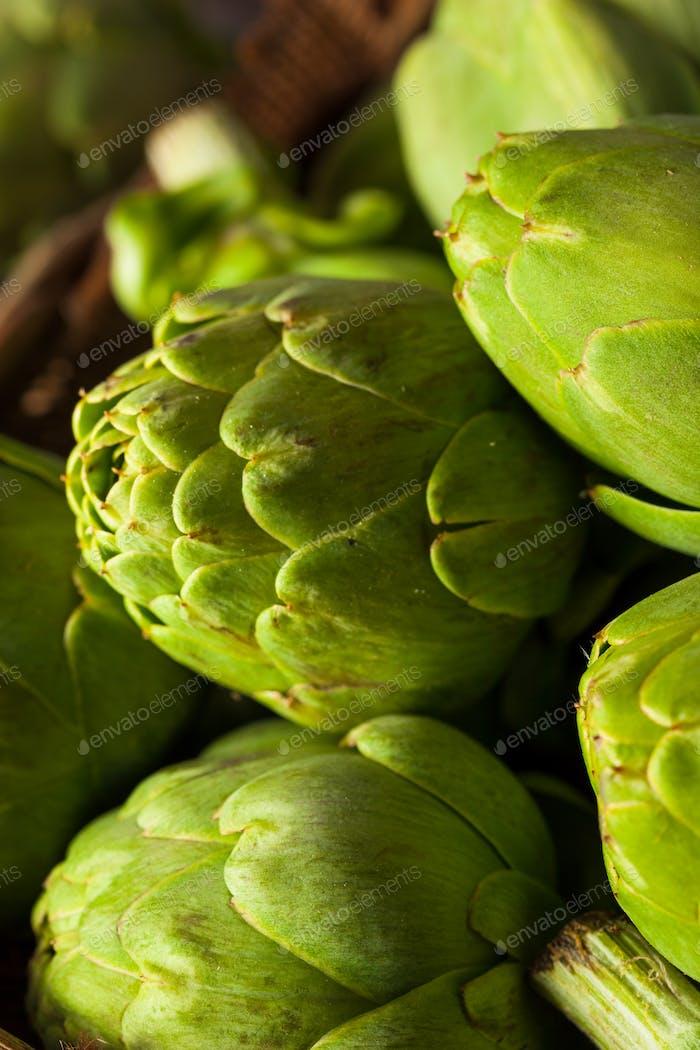 Raw Organic Green Baby Artichokes