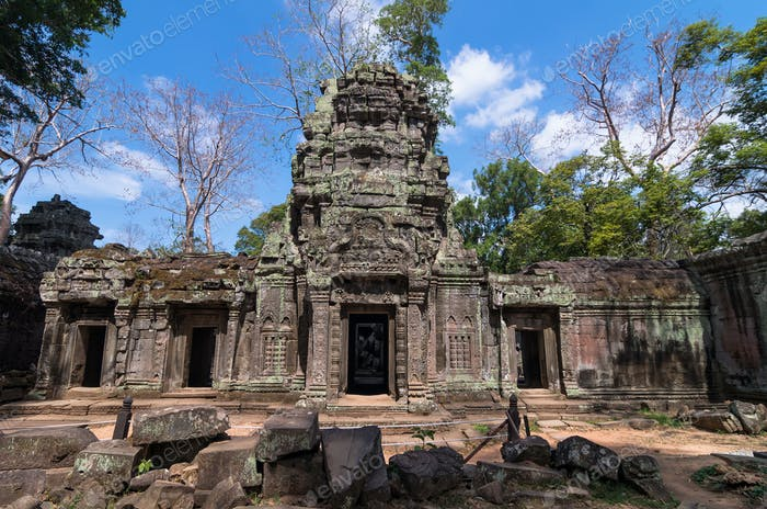 ancient Prasat Ta Phrom, Angkor Wat, Cambodia