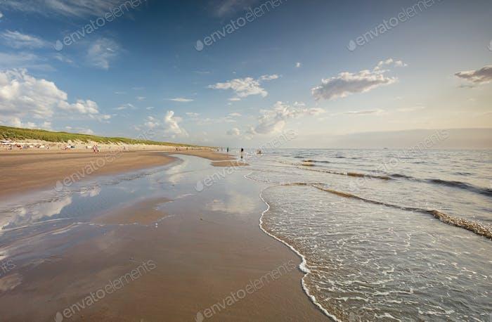 beautiful North sea sand beach in summer