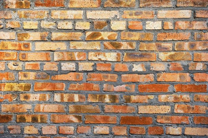 Alte Brick Wand Textur oder Hintergrund