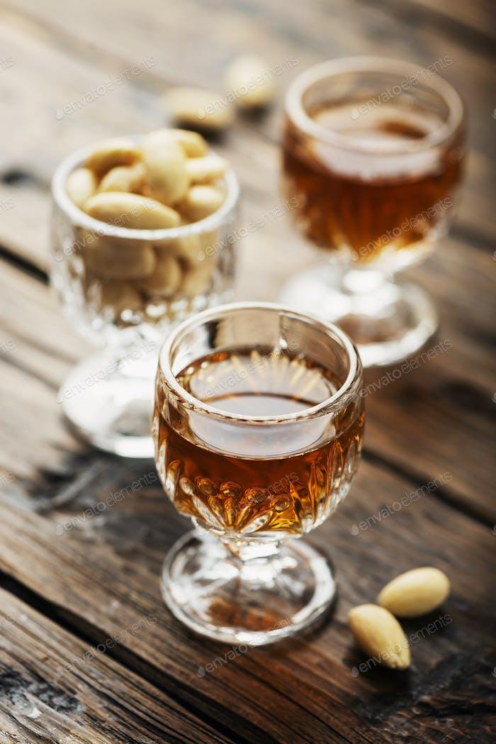 italian liqueur «Amaretto»
