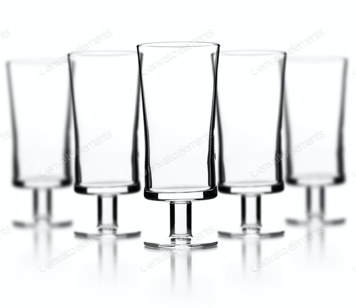 Set of empty glass