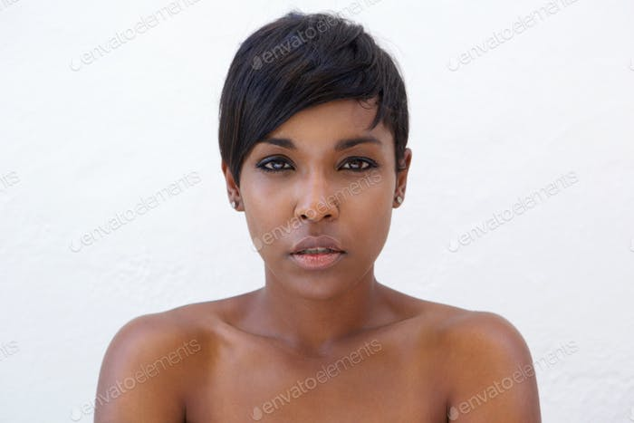 Beautiful african american woman with modern hairstyle