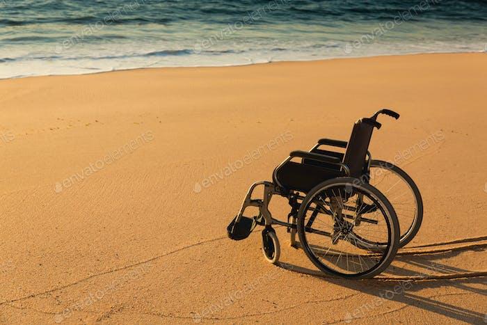 Wheelchair on the beach