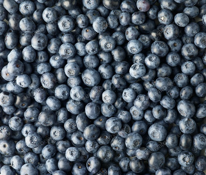 background of fresh blueberries