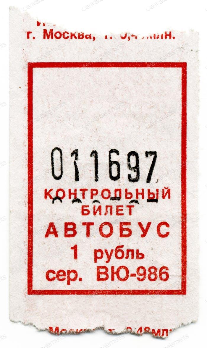 Fahrkarten im Bus