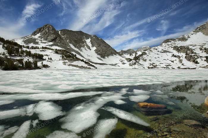 Iced Ruby lake, California